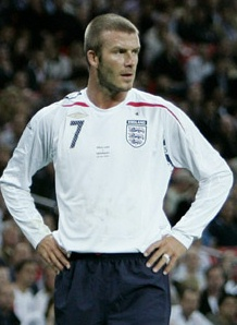 David Beckham will be at the World Cup 2010?